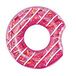 Надувной круг для плавания Bestway 36118 «Пончик», розовый, 107 см