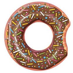 Надувной круг для плавания Bestway 36118 «Пончик», коричневый, 107 см