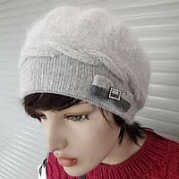 Уютный берет на ножке  шапка  хорошее качество по низкой цене