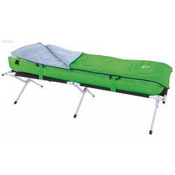 Матрас с раскладушкой и спальным мешком Bestway 68063, 190 х 64 х 42 см, зеленый