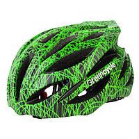 Green Cycle Alleycat Каска шоссе черн-зелен 54-58