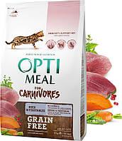 Optimeal Оптимил беззерновой утка и овощи 4 кг для кошек
