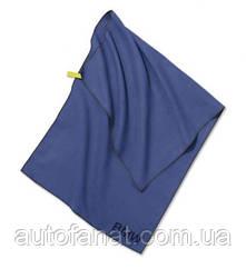 Оригинальное полотенце в комплекте с сумкой BMW Active Towel, Functional, Blue / Olive (80232446011)
