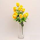 Букет розы на 12 голов NС - 59/12 (14 шт./ уп.) Искусственные цветы оптом, фото 4