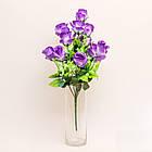 Букет розы на 12 голов NС - 59/12 (14 шт./ уп.) Искусственные цветы оптом, фото 3