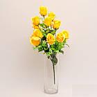 Букет розы на 12 голов NС - 59/12 (14 шт./ уп.) Искусственные цветы оптом, фото 6