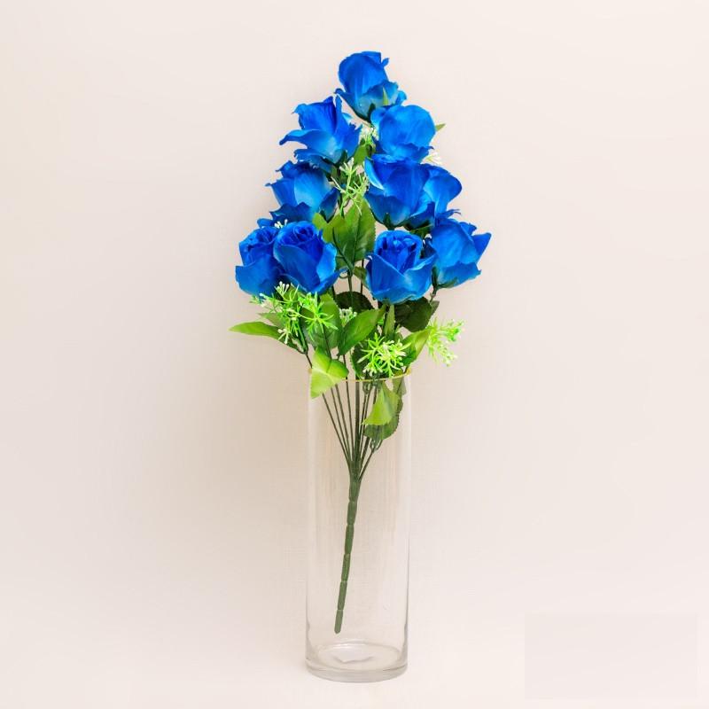 Букет розы на 12 голов NС - 59/12 (14 шт./ уп.) Искусственные цветы оптом