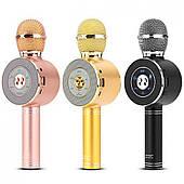 Караоке микрофон с колонкой WSTER 668 с СВЕТОМУЗЫКОЙ Оригинал с гарантией!