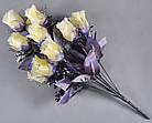 Букет темная роза NM-46/12 (12 шт./ уп.) Искусственные цветы оптом, фото 3