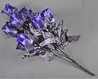 Букет темная роза NM-46/12 (12 шт./ уп.) Искусственные цветы оптом, фото 4