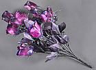 Букет темная роза NM-46/12 (12 шт./ уп.) Искусственные цветы оптом, фото 7