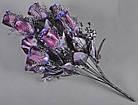 Букет темная роза NM-46/12 (12 шт./ уп.) Искусственные цветы оптом, фото 5
