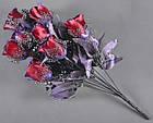 Букет темная роза NM-46/12 (12 шт./ уп.) Искусственные цветы оптом, фото 2