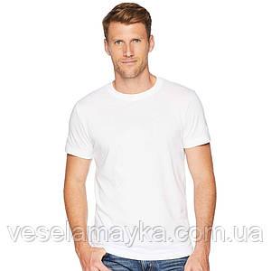 Уплотненная белая мужская футболка (Премиум)