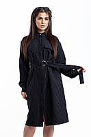 Платье - рубашка в полоску / рубашечная ткань / Украина 47-3107