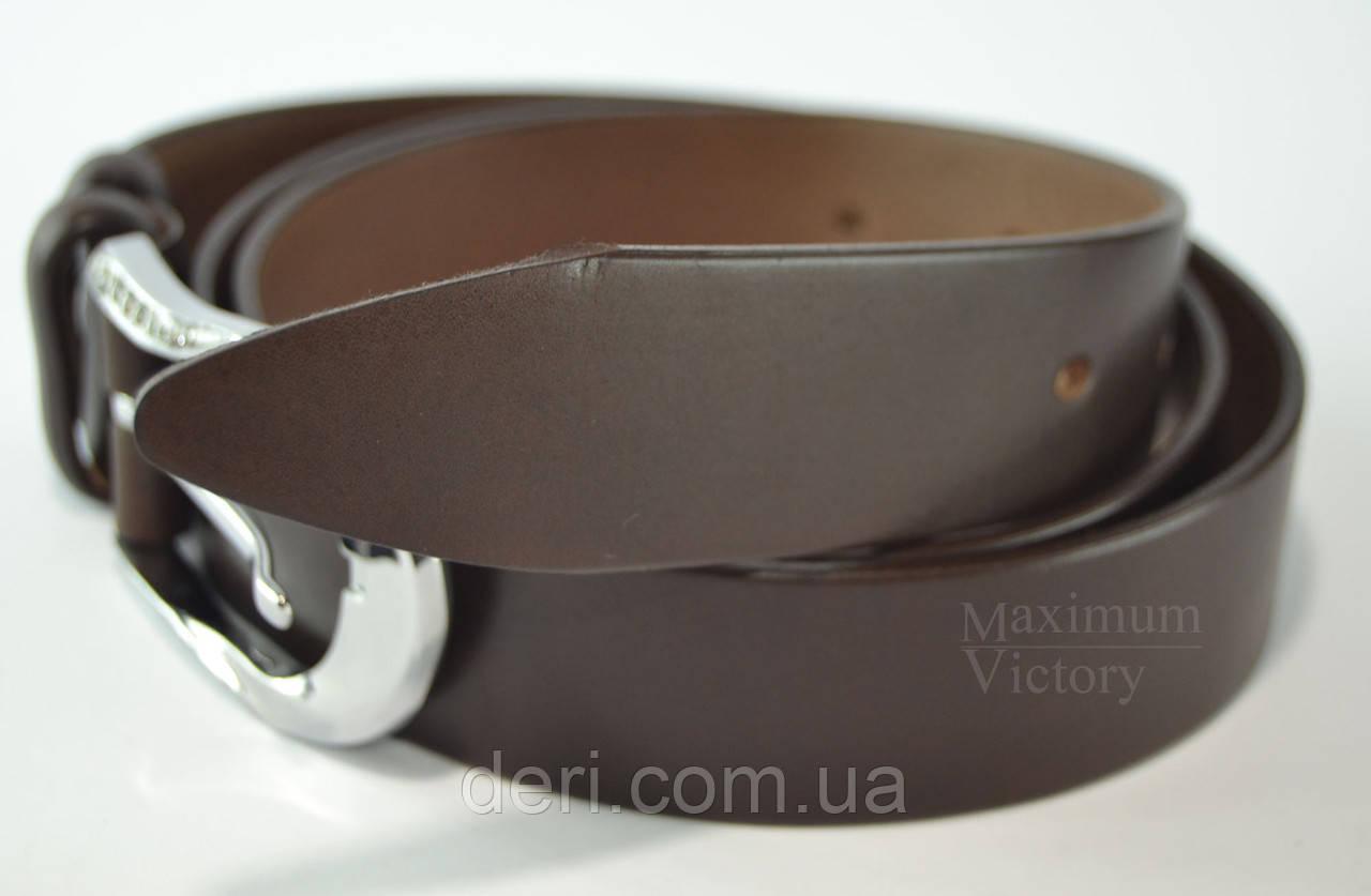 Ремінь шкіряний Andro 35 мм. коричневий Жіночий   продажа bcf6312b364f2