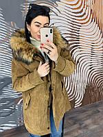 Женская куртка на меховой основе в расцветках. Д-1-0119 (0383)