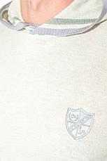 Худи мужское трикотажное, с лого 50PD479-K (Светло-серый меланж), фото 2