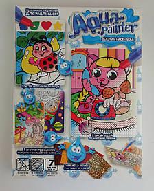 Мозаїка Aqua painter Водна розмальовка+аплікація Кішечка AQP-01-02 Danko-Toys Україна