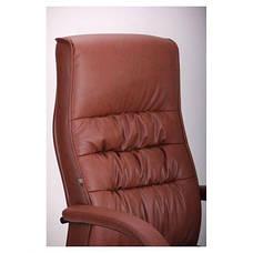 Кресло Орхидея НВ, кожзам коричневый (643-B Hi-Back Brown PU+PVC HL014 Mech), фото 3