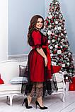 Нарядное платье женское  Креп костюмка и евро сетка Размер 48 50 52 54 56 58 60 62 64 В наличии 3 цвета, фото 5