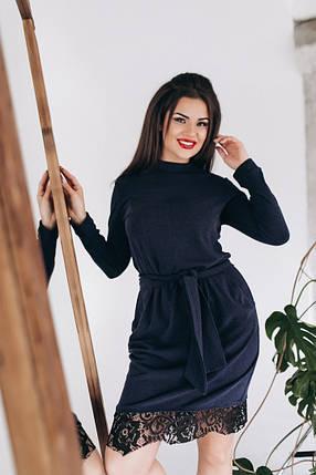 6bf2dc719f42030 Нарядное ангоровое платье прямого кроя