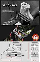 Замок на диск мотоцикла, скутера, велосипеда VEISON Rotor Disc Lock DX3 срібло