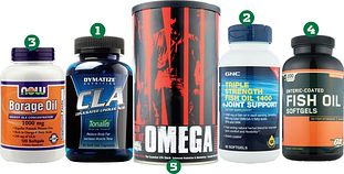 Жирные кислоты: Рыбий жир (Омега 3), Омега 3-6-9, CLA
