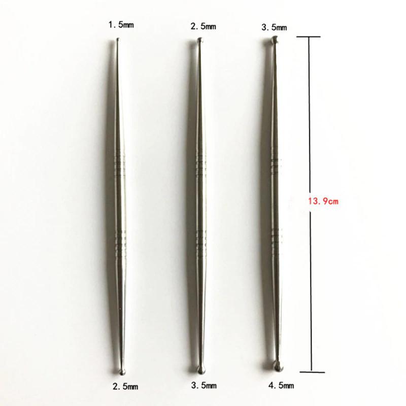 Набор инструментов для лепки 2-сторонних, металлические стеки, 3шт.