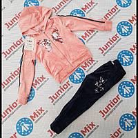 Детские спортивные велюровые костюмы для девочек оптом
