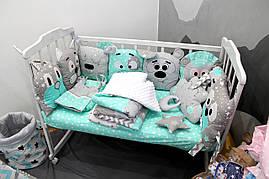 Комплект детского постельного с бортиками (состав в описании)