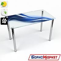 Обеденный стол стеклянный (фотопечать) Прямоугольный Astratto от БЦ-Стол