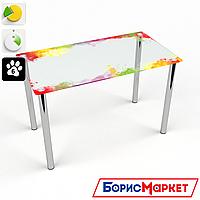 Обеденный стол стеклянный (фотопечать) Прямоугольный Colorate от БЦ-Стол