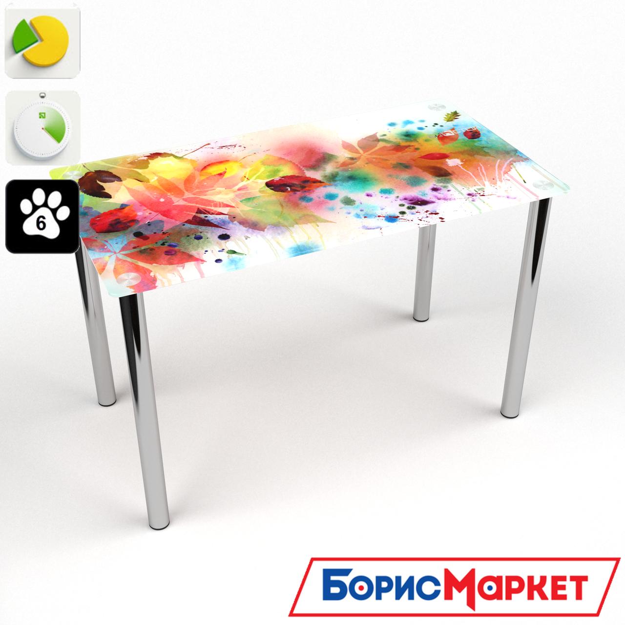 Обеденный стол стеклянный (фотопечать) Прямоугольный  Dei colori от БЦ-Стол