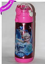 Термос детский FROZEN школьный с трубочкой для девочек 350 ml, купить оптом со склада Одесса 7км