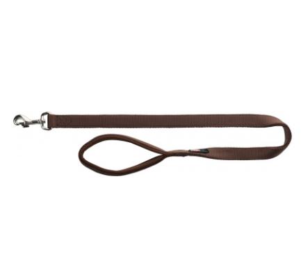 Поводок Premium с неопреновой подкладкой, L–XL: 1.00 м/25 мм мокка
