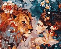 Раскраска для взрослых Ее лев (VP965) 40 х 50 см DIY Babylon