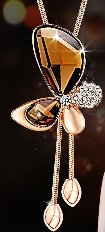 Ожерелье с желтым ювелирным стеклом