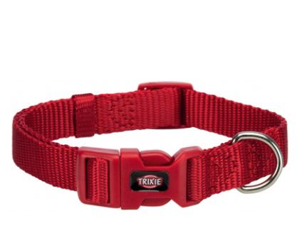 """Нашийник """"Premium"""" нейлон, L–XL: 40-65 см/25 мм червоний"""