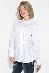 Рубашка (полубатал) с баку на завязках 69PD1039 (Белый)