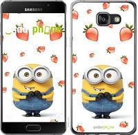 "Чехол на Samsung Galaxy A7 (2016) A710F Миньон с клубникой ""3369c-121-17753"""
