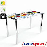 Обеденный стол стеклянный (фотопечать) Прямоугольный Berry Mix  от БЦ-Стол