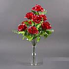 Букет Роза полубутон NС 21/10 (12 шт./ уп.) Искусственные цветы оптом, фото 5