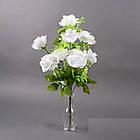 Букет Роза полубутон NС 21/10 (12 шт./ уп.) Искусственные цветы оптом, фото 4