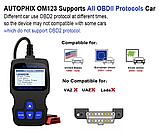 Диагностический автосканер Autophix OM123 (аналогAncel AD310 ) на русском языке OBD2, фото 2