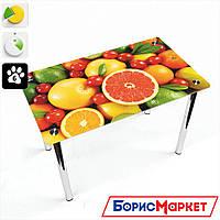 Обеденный стол стеклянный (фотопечать) Прямоугольный Fruit от БЦ-Стол