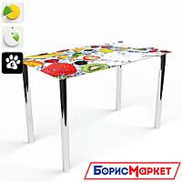 Обеденный стол стеклянный (фотопечать) Прямоугольный Fruit Shake от БЦ-Стол