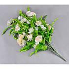 Роза бутон с папоротником NC-27/36 (7 шт./уп.) Искусственные цветы оптом, фото 2
