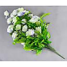Роза бутон с папоротником NC-27/36 (7 шт./уп.) Искусственные цветы оптом, фото 5