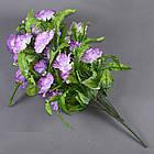Роза бутон с папоротником NC-27/36 (7 шт./уп.) Искусственные цветы оптом, фото 3